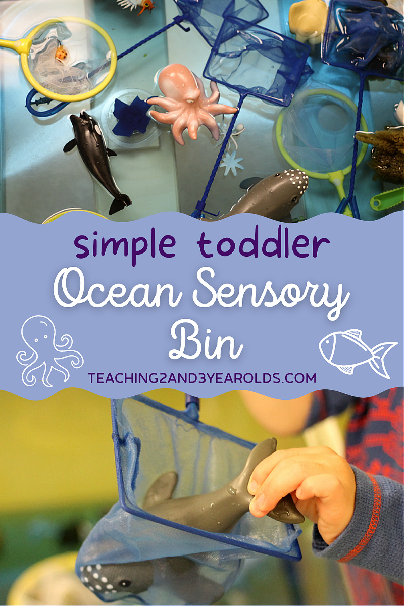 toddler ocean sensory bin