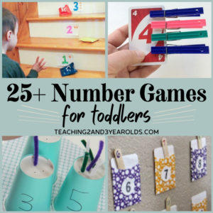 25+ Hands-On Number Games for Toddlers (and Preschoolers!)