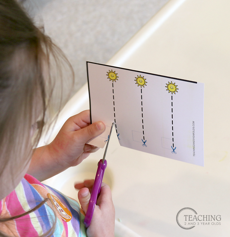 free preschool summer cutting practice printable