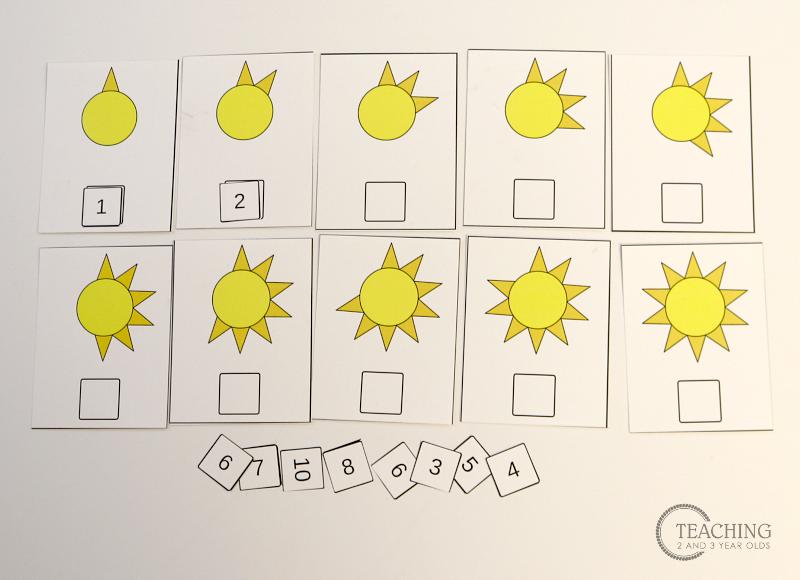 free preschool sun counting printable