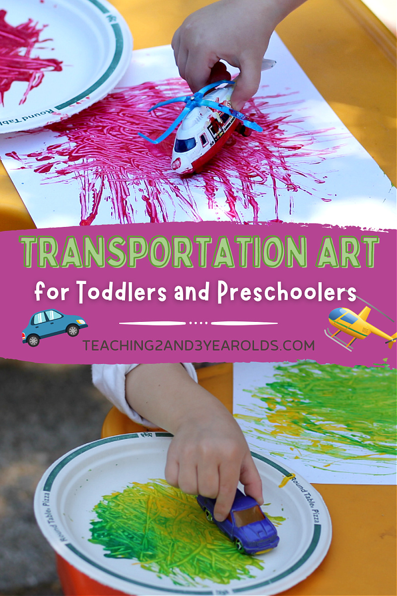 Preschool Transportation Activity that Involves Sorting and Painting