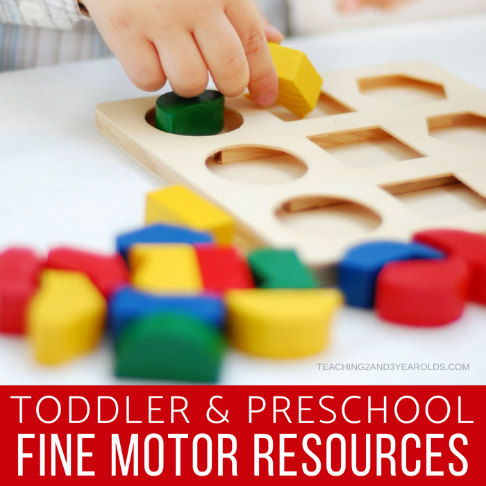 Favorite Fine Motor Resources for Toddlers and Preschoolers