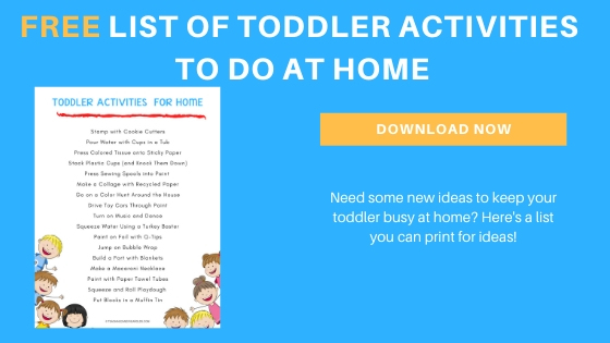free list of toddler activities for home