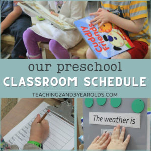Our Favorite Preschool Classroom Schedule