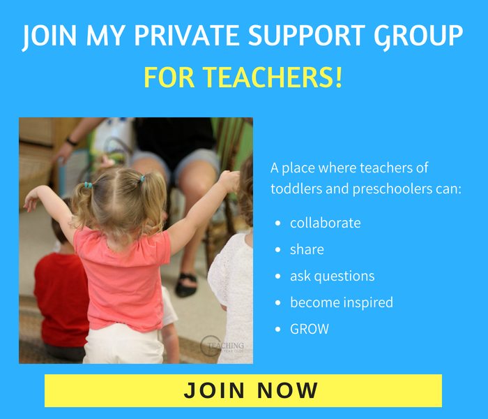 toddler and preschool teachers private support group