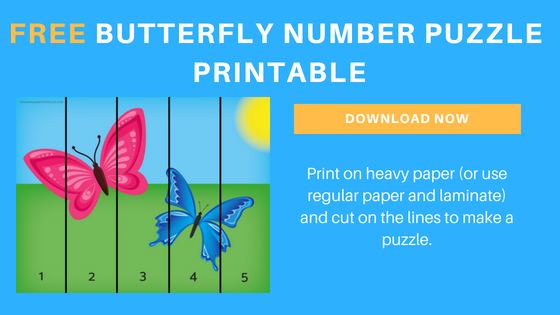 free butterfly math printable