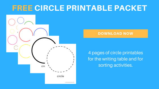 free preschool circle printable packet