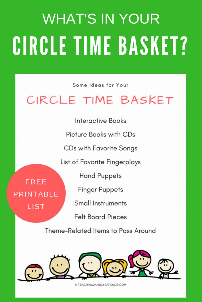 free circle time printable
