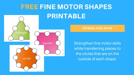 free fine motor shapes printable