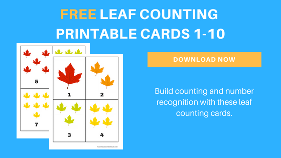 free leaf counting cards printable