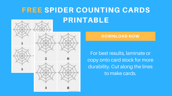 free spider counting printable