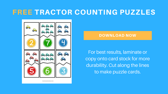 Free Tractor Counting Printable