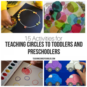 Teaching Circles to Toddlers and Preschoolers