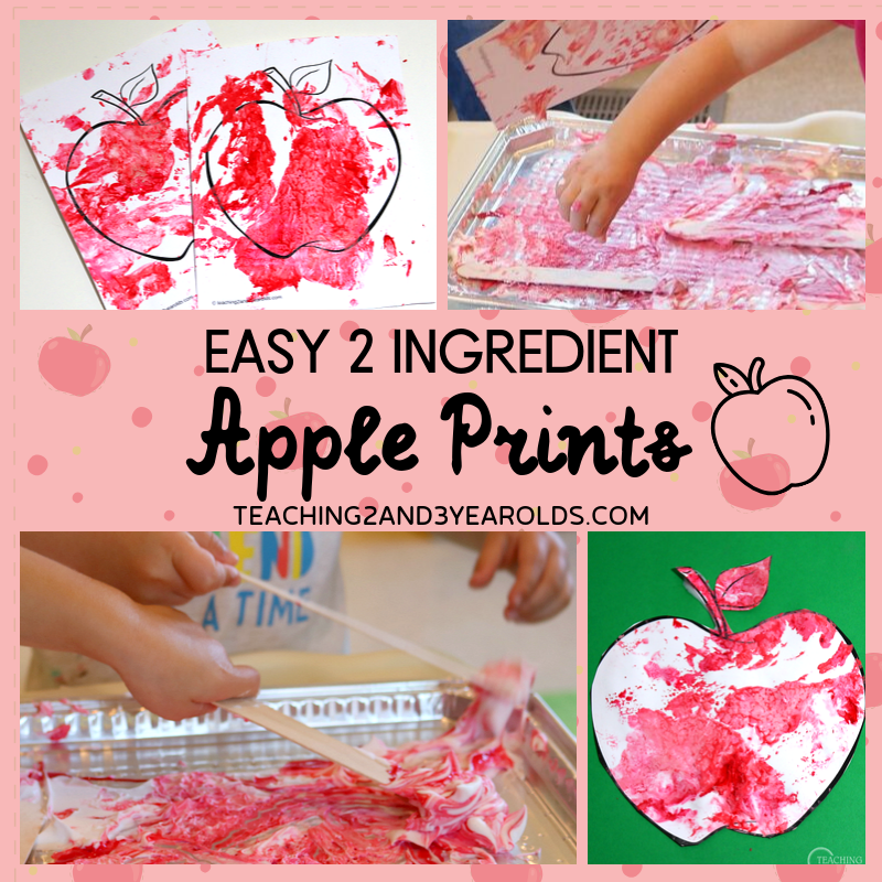 Easy Apple Art Activity with 2 Ingredient Puffy Paint