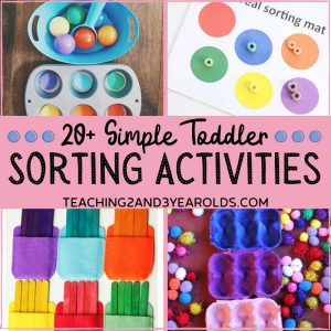 20+ Fun and Simple Toddler Sorting Activities