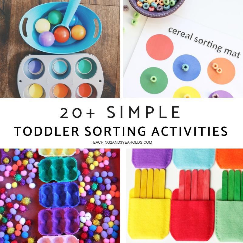 20+ Simple Toddler Sorting Activities