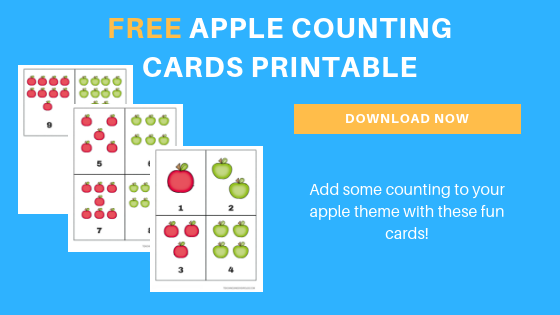 Free Apple Counting Cards for Preschoolers