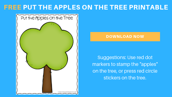 free apple tree printable for preschoolers
