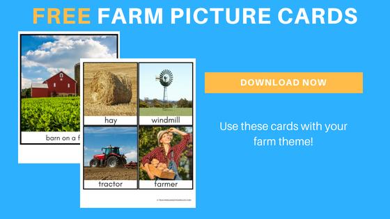Farm Picture Cards for Toddlers and Preschoolers