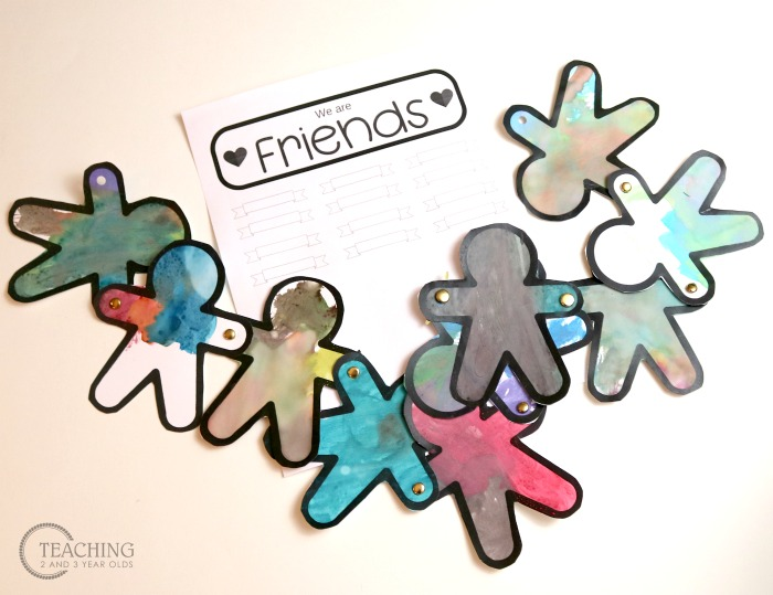 How to Create a Banner for a Toddler Friendship Activity