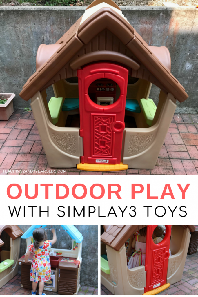 Toddler and preschool outdoor play is an important part of our curriculum, so it's always fun when we get new toys. We love our new Simplay3 Cottage View Garden and Kitchen!