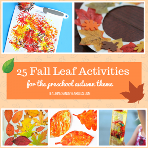 25 Leaf Activities for the Fall Time