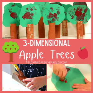 How to Make a 3-Dimensional Apple Tree Art Using Paper Tubes