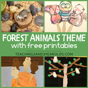 Creating a Forest Animals Theme in the Toddler and Preschool Classroom