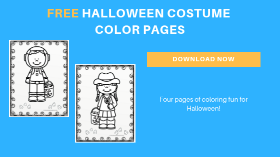 free preschool Halloween color pages