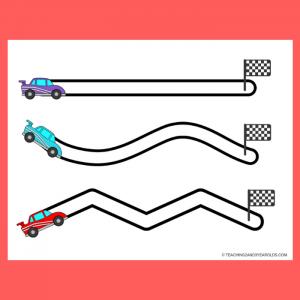 Free Race Car Fine Motor Printables