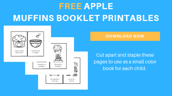 apple muffins free printable booklet