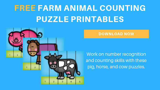 preschool farm animal counting puzzle printable