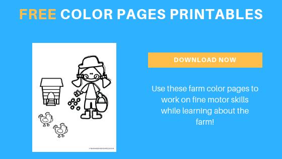 farm color pages printable