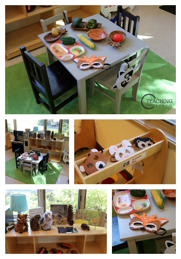 Setting Up the Forest Animals Theme in the Toddler and Preschool Classroom