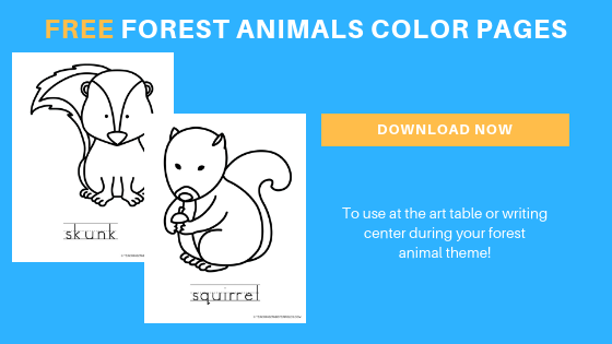 free forest animal color pages