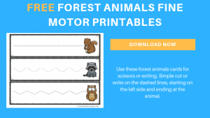 Moving Left to Right Forest Animals Printable Cards