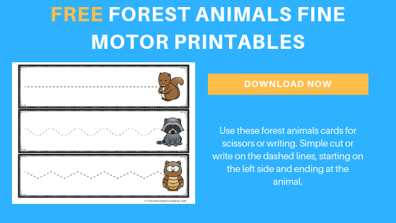 forest animals fine motor cards