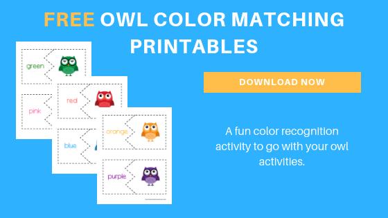 free preschool owl printables