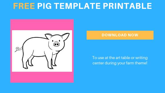 free farm pig printable