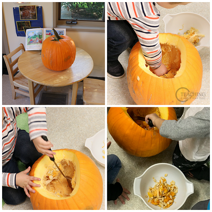Looking for some fun pumpkin theme curriculum ideas you can do with your toddlers and preschoolers? Come see how we've set up our classroom with lots of fun activities!