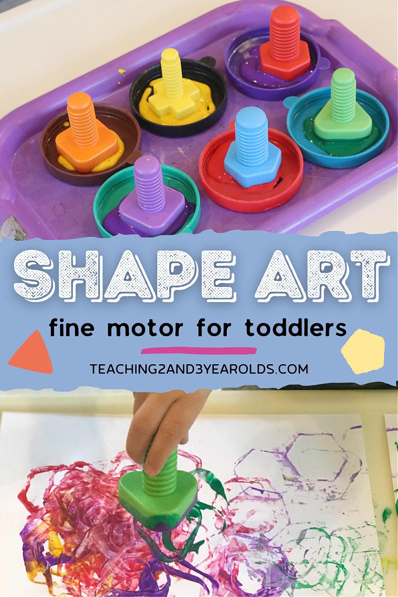 toddler shape art activity
