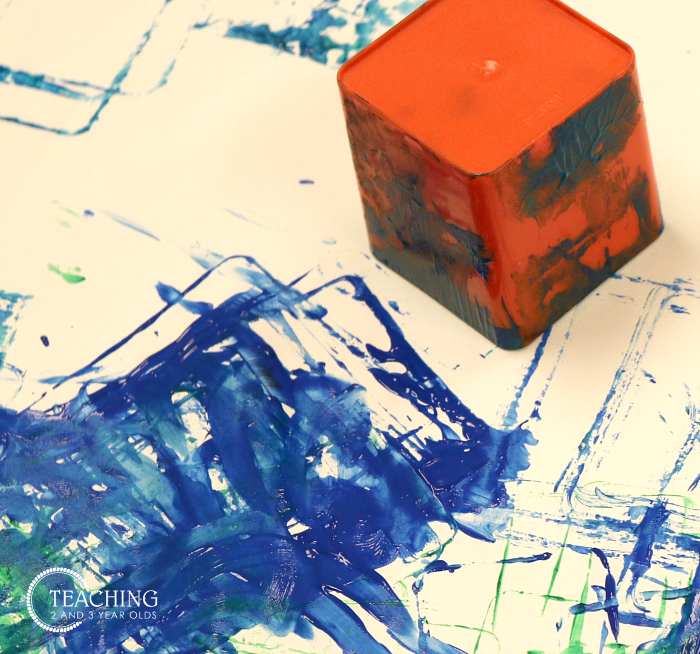 How to Put Together a Toddler Square Art Activity that Is Busy and Fun