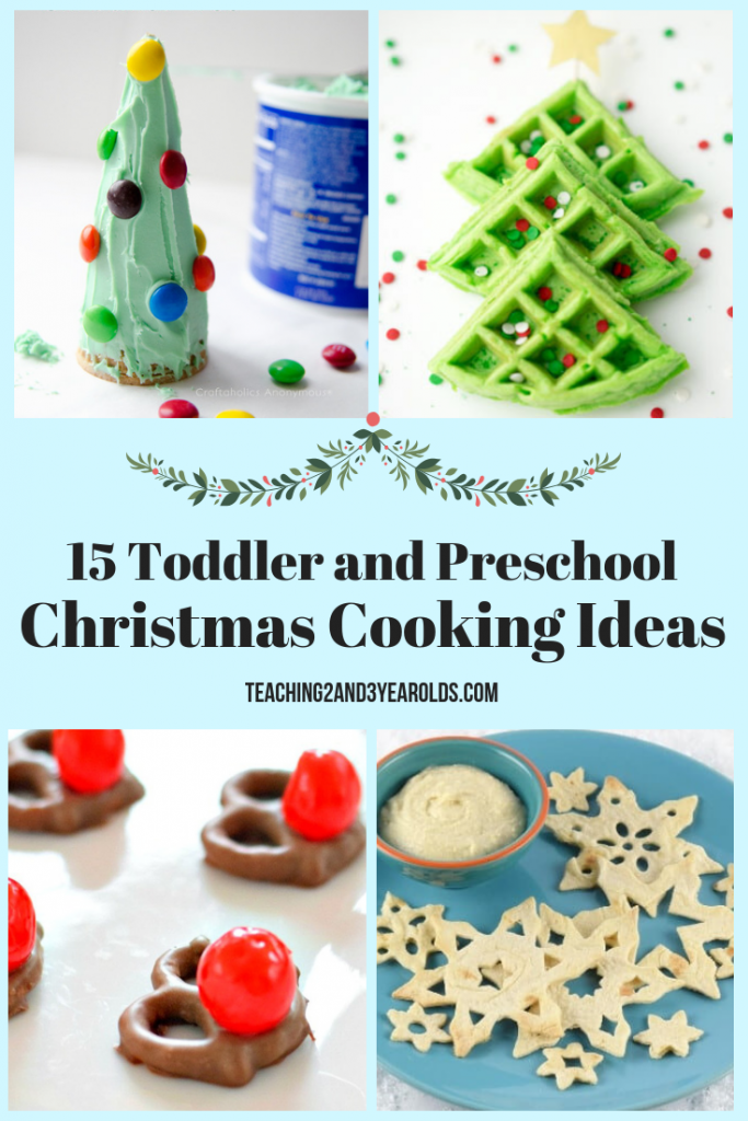 Get into the festive spirit with these 15 toddler and preschool Christmas cooking ideas. These can be done in the classroom, and are also a fun way to bond over winter break!