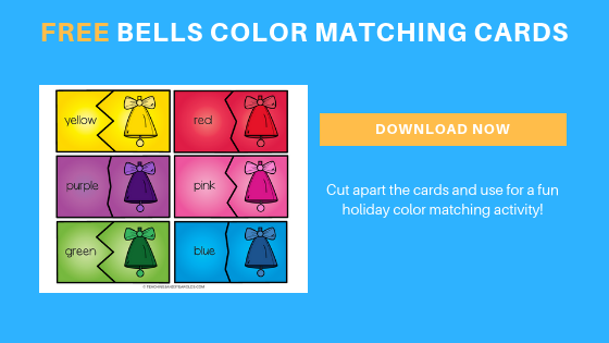 free toddler preschool bells color matching cards