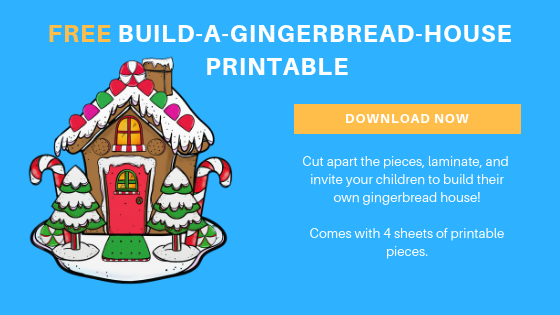Free Build a Gingerbread House Printable