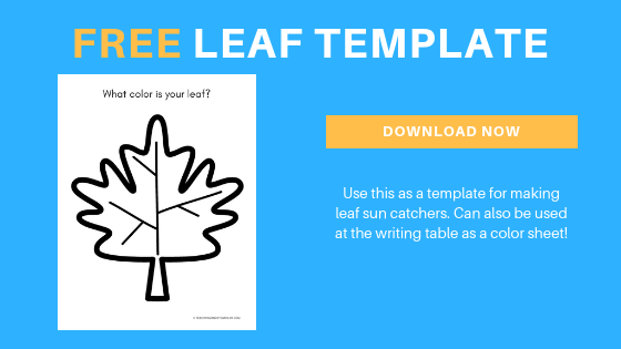 free toddler leaf template