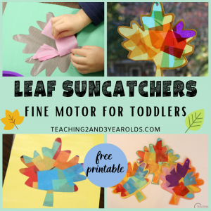 How to Make a Colorful Leaf Sun catcher with Toddlers