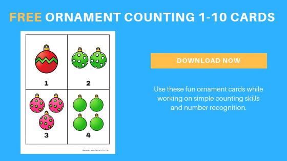 free preschool ornament counting printable