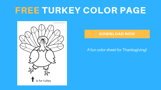 Free Thanksgiving Color Page for Toddlers and Preschoolers