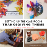 Setting Up the Thanksgiving Theme for Toddlers and Preschoolers
